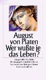 von Platen, August - Wer wusste je das Leben? bestellen
