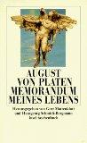 von Platen, August - Memorandum meines Lebens bestellen